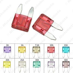 Leewa 50 piezas 3A ~ 40A-10 Color de pequeño tamaño de aleación de zinc de coches Auto Motocicleta Barco fusible plano # 3840