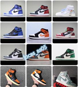 SnakeskinJordanRetro 1 air quality Sneakers men women fly Basketball sneakers jack 1s chaussures Shattered Backboard
