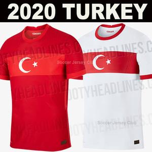 Türkei Euro 2020 zu Hause rot-Kits Fußball-Trikot Türkei weg weiß 2021 Fußballhemden Spitzenthailand Qualitätshemden