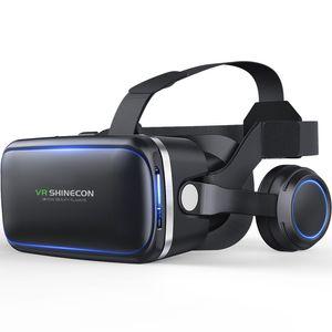 NOVA Casque VR Capacete VR Realidade Virtual Óculos 3 D 3D Óculos Óculos com Fone De Ouvido Para iPhone Android Smartphone Telefone Inteligente estéreo