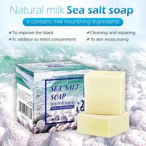 100 g Meersalz Seifenreiniger Entfernen Pickel Poren Akne-Behandlung Feuchtigkeitsspendende Gesichtspflege Ziegenmilch-Seife schäumt Net