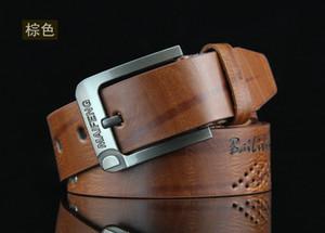 2018 Fashion New mens designer cinture in pelle Single Prong Belt Business Casual Dress metallo fibbia cinture 110 cm