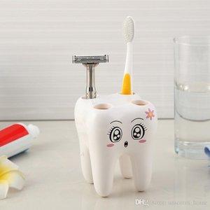 Spazzolino da denti Denti Stile Supporto a 4 fori stand spazzolino da denti mensola del bagno Accessori Imposta Staffa Container cny1217