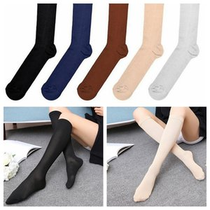 Fashion Sports Socks Miracle Anti Fatigue Compression Socks Stocking New Pattern white blue black brown coffee nude gray nylon stocking