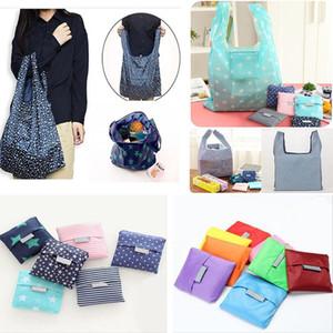 Reutilizable plegable Bolsos de ultramarinos bolsa de almacenamiento de Altas Prestaciones plegables de compras Bolsa de tela de nylon impermeable bolsas de la compra para el cielo raya de la estrella WX9-661