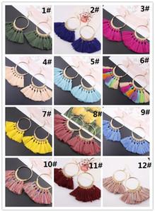 17 Colors Womens Fashion Bohemian Earrings Long Tassel Fringe Dangle Hook Earring Eardrop Ethnic Jewelry Gift WCW014
