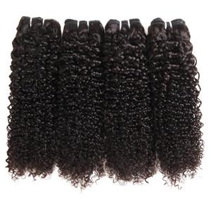 Dilys Волна Волна Человеческие волосы Пучки с закрытием Свободная Часть Бразильские Перуанские Индийские Необработанные Волос Человеческих Волос Черный Цвет 8-28 Дюймов