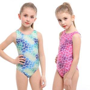 Дети Baby Girl купальный костюм Симпатичные Детский Профессиональный Купальный костюм для девочек конкуренции купальник One Piece Купальники