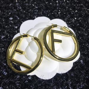 American fashion hot sale F letter hollow earrings simple fashion wild woman earrings
