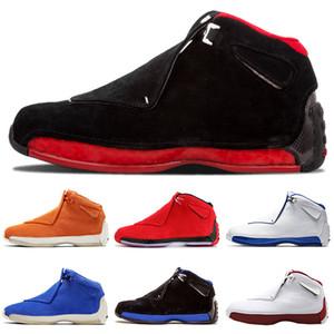 2020 Mens Basketball обувь 18 Разводят Определяющие Моменты 18s Jumpman XVIII Оранжевый Торо OG ASG Черный белый Прохладный серый Спортивные кроссовки Кроссовки