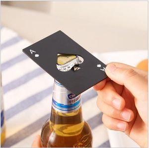Poker Card Opener Stainless Steel Beer Openers Bar Tools Credit Card Soda Beer Bottle Cap Opener Gifts Kitchen Tools49