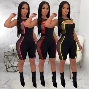 Femmes Sexy Ladies Combinaions Clubwear évider manches bodycon Party Jumpsuit Pantalon Romper Femme Jumpsuit