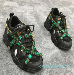 Plus récent concepteur FlashTrek Sneaker avec cristaux amovibles Chaussures Hommes Designer Casual Luxury Fashion Luxury Designer Femmes Sneakers 10 09c