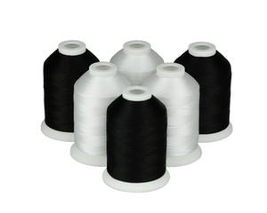 Discussione Simthread poliestere Macchina da ricamo 120D / 2 40WT bianco o nero - 1000M / spool, 6 Bobine / kit