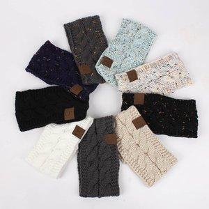 Dropshipping CC Tricoté Crochet bandeau automne hiver nouvelles femmes Sports Headwrap Hairband Fascinator Chapeau Tête Robe Headpieces 21 couleurs