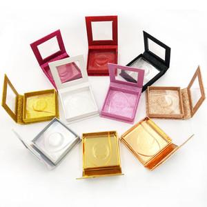 Magnetic Lashes Box with eyelash tray 3D Mink Eyelashes Boxes False Eyelashes Packaging Case Empty Eyelash Box 20 sets free shipping