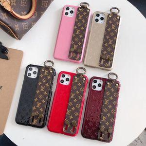 Casos Designer telefone para iphone 11 pro max caso Luxo Correia de pulso protecção suporte do telefone Capa para Samsung S10 mais Nota 10 Back Cover