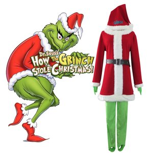 Halloween è Grinch Notte Come il Grinch Stole Christmas abiti Santa vestiti del costume di Cosplay del partito