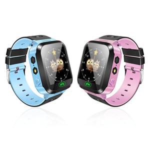 Y21 GPS Enfants Montre Smart Watch Anti-Perdu Lampe De Poche Bébé Montre-Bracelet À Puce SOS Appel Dispositif de localisation Tracker Bracelet sûr pour iOS Android Téléphone