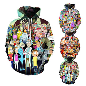 marke mens designer trainingsanzüge anime hoodie männer frauen kleidung 3d Digital Print Charaktere Mit Kapuze Hoodies unisex luxus sweatshirt Plus Größe