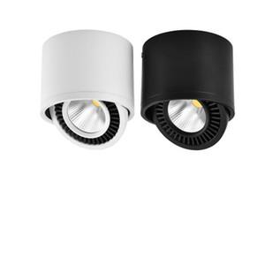 AC85V-265V 표면은 LED 드라이버 화이트 / 따뜻한 화이트 스포트 라이트와 LED COB 다운 라이트 3W / 7W LED 램프 천장 스포트 라이트를 장착