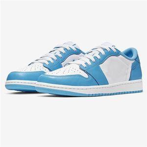 2019 Haute Qualité 1 x SB Dunk Faible Pro OG QS Chaussures De Planche À Roulettes Bleu Blanc UNC Créateur De Mode Sport Baskets Chaussures De Basketball