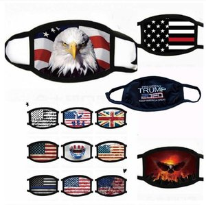 Trump-Gesichtsmaske US-amerikanische Wahlen Staubdichtes Maske Trump 2020 amerikanische Staatsflagge Gedruckt Außenmund Cover Designer Masken OOA7981