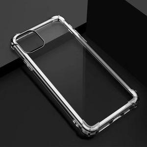 1,5 mm Temizle Darbeye TPU Kılıf için Iphone 12 Pro Samsung Galaxy Note 20 S20 FE 5G Xiaomi Mi 10 Şeffaf Cep telefonu Kapaklar