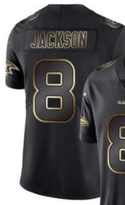 Vapor Limited Black Golden Джерси Мужские Baltimores 8 Джерси рубашки Все футбольные майки команды American