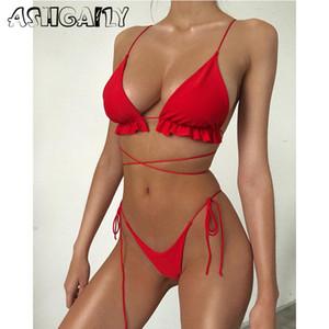 2020 الدعاوى الجديدة الجنس البرازيلي بيكيني ملابس النساء ملابس السباحة الرسن بيكيني شاطئ الاستحمام ملابس السباحة الصيفية biquini