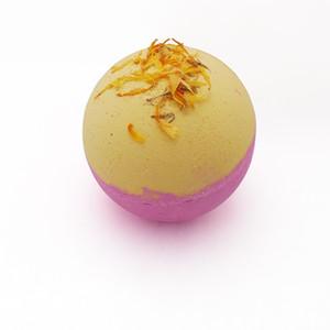 Bola Bath Flores secadas do arco-íris sal de banho de bola Set Bolha Explosão Sal bomba da bolha Lavender 6 Pack