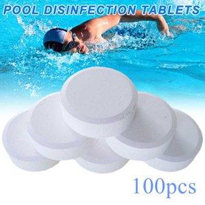 100pcs cloro Tablets Prático Spa Tub efervescente Outdoor Multifuncional Esterilização Algaecide Piscina Água Limpa