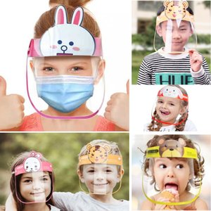Children Cartoon Face Shield Anti-fog Face Mask Full Protective Mask Transparent PET Protection Head Cover Kid Gifts Party Mask HH9-3096