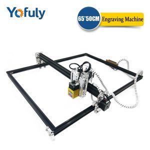 Máquina de cortador de la láser de 500 mW / 2500MW / 5500MW de foco fijo de 15W / 5500mw CNC máquinas de cortador de máquinas de grabador de láser 6550 CNC
