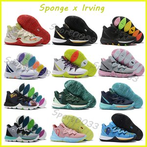 Mens Kyrie Shoes,TV PE Basketball Shoes 5 For Cheap 20th Anniversary Sponge x Irving 5s V Five Sneakers