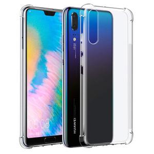 Couverture de cas pour Huawei P40 P30 P20 Maté Pro 30 20 antichocs TPU cas clair transparent Couverture souple
