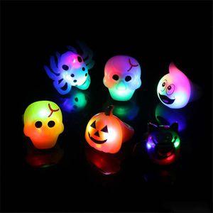 Zucca di Halloween bagliore anello atmosfera di festa bagliore giocattolo di Halloween decorazioni del partito giocattoli per bambini DHL commercio all'ingrosso di trasporto