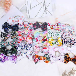 Baby Headband Printed Big Bow Headwear Nylon Elastic Infant Girl Turban Head Band Newborn Head Wrap Hair Accessories 59 Designs DW5394