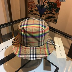 Hochwertige Luxus Brief EimerburberryHut, wenn noch Klassisches Gitter Fischer Strand Visier Verkauf Falten Hut Hut Falten Bowler