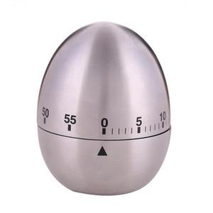 Temporizador mecânico de aço inoxidável ovo forma temporizadores para cozinha de casa 60 minutos alarme contagem regressiva ferramenta
