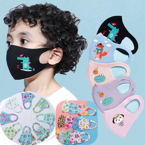 En la máscara de la historieta 3D del diseño de la cara de los niños cubrir la boca de la máscara del respirador a prueba de polvo anti-bacterianas Máscaras reutilizable lavable Diseño