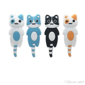 Hook Colourful Cat Magnetic Lovely Creative Facilitate Magnet Modern decore Universal Hooks Factory Direct Selling 4 8yk p19