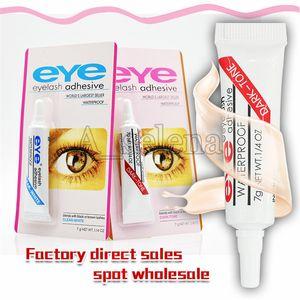 Factory Direct Sales Adhesive False Eyelashes Eye Lash 7g Glue Makeup White Black Waterproof Makeup Tools