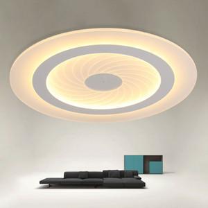 2019 Plafond LED Lumières modernes acrylique Ultrathin Salon chambre lumières de plafond décoratif Chambre Lamparas de techo lampshade