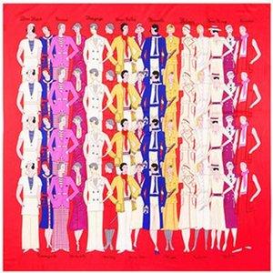 Vintage Place soie imprimé châles et femmes à la main Femme Foulard Tassel Twill Châles gros 130cm * 130cm