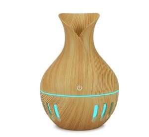 130ml USB difusor de aroma de óleo amarelo Grain umidificador elétrico ultra-sônico umidificador de ar aromaterapia LED fabricante de neblina leve para casa