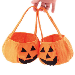 Halloween Sac Pliable bonbons Sourire citrouille Folding personnalité bonbons panier-cadeau Wacky Expressions Treat ou accessoires Sac Tricky