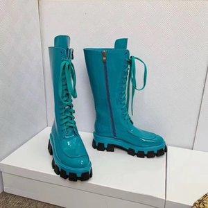 Carregadores das mulheres mulheres passarela bota Femina sapatos plataforma mulheres Mid bezerro botas mulheres 2020 pares de sapatos femininos