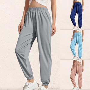 Femmes desserrées Joggers jambe large PANTALON Pantalons pour femmes Taille Plus Doux au pantalon taille Streetwear coréenne Yoga Casual Pant Femme