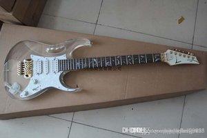 무료 배송 새로운 전기 기타 아크릴 투명 유기 유리 하프 바디 컬러 기타